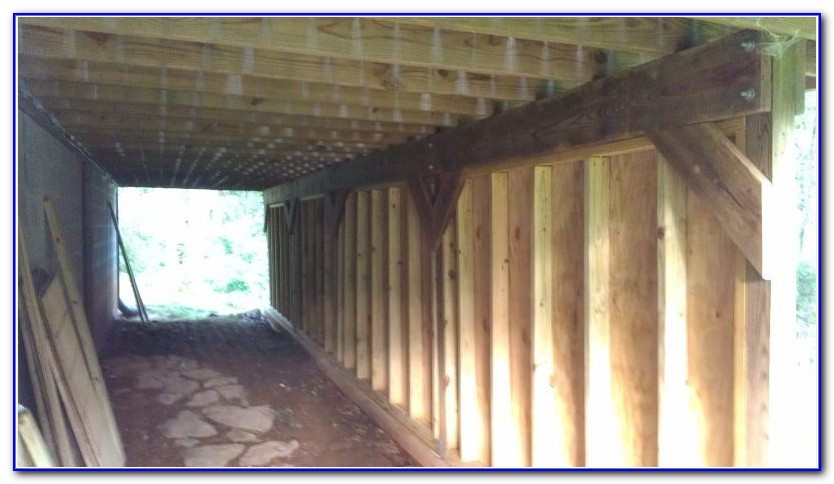 Enclosing Under A Deck For Storage