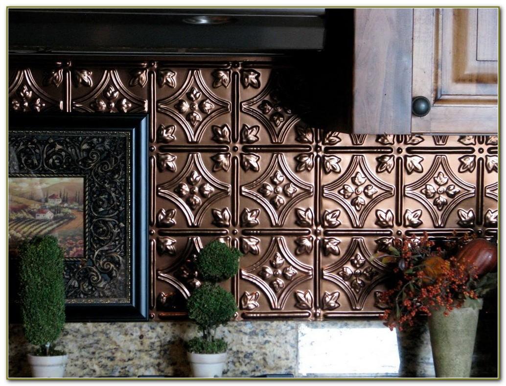 Faux Tin Ceiling Tiles For Backsplash