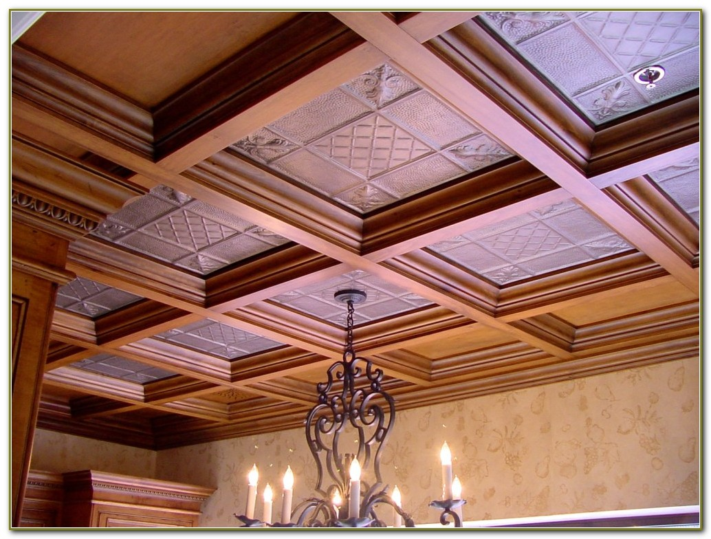 Faux Tin Ceiling Tiles Home Depot