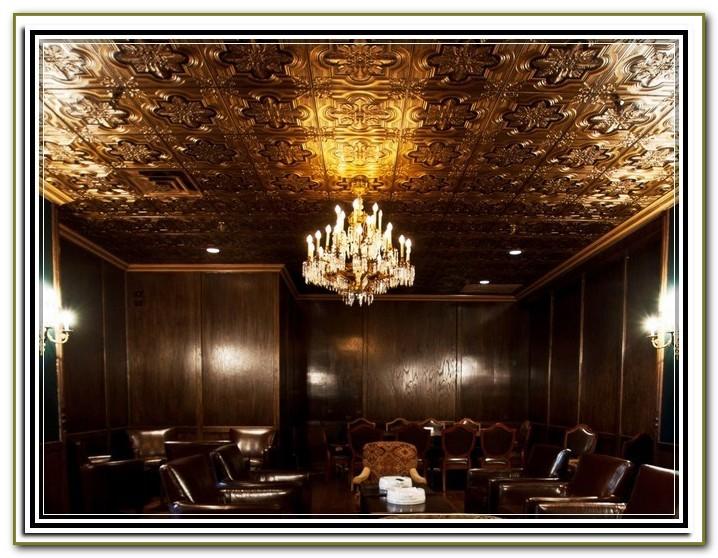 Faux Tin Ceiling Tiles Wallpaper