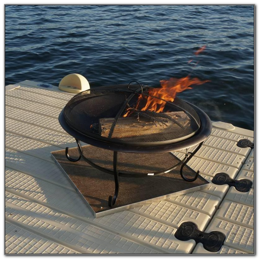Fire Pit Pad For Wood Deck