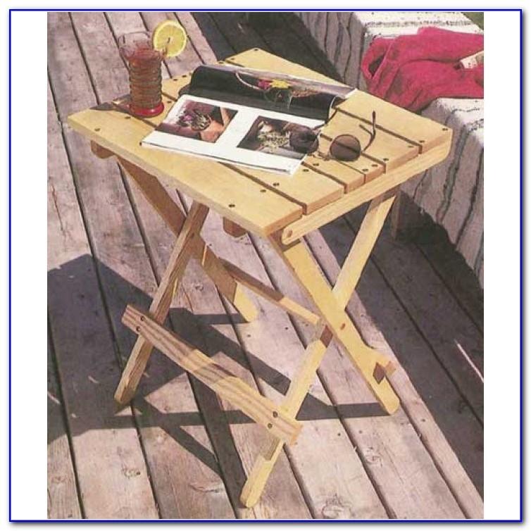 Folding Deck Table Plans