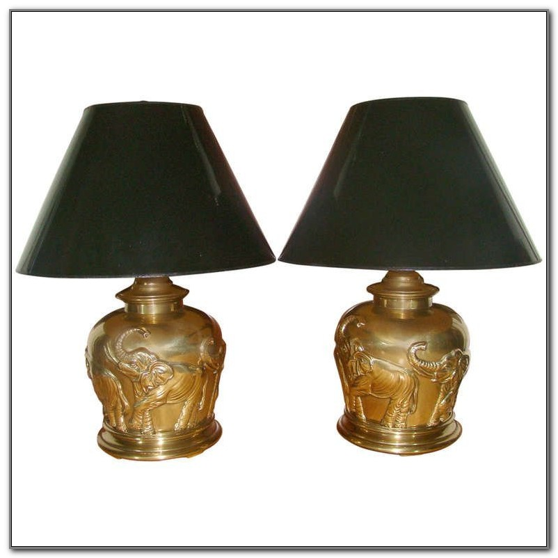 Frederick Cooper Table Lamps Brass