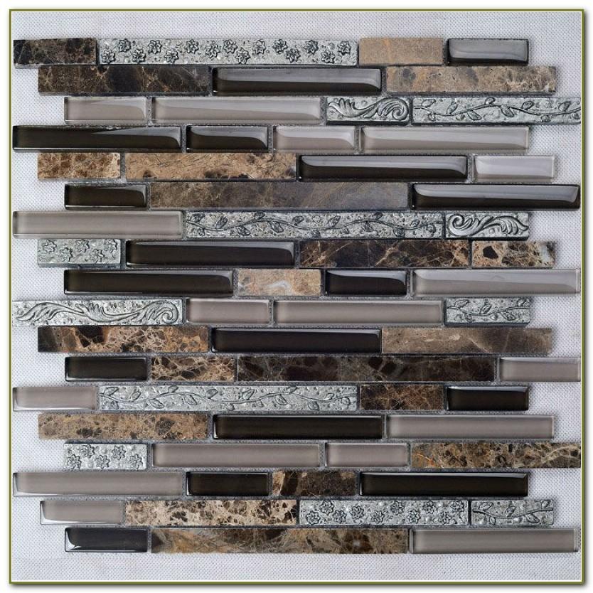 Glass And Marble Mosaic Tile Backsplash