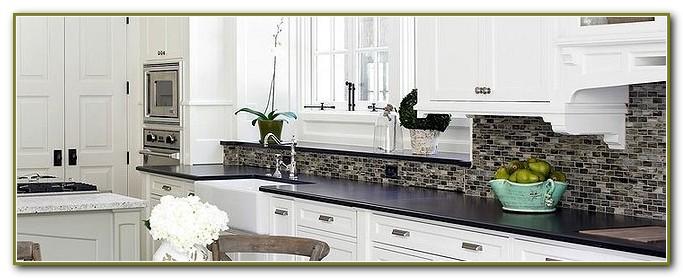 Glass Tile Backsplash Ideas White Cabinets