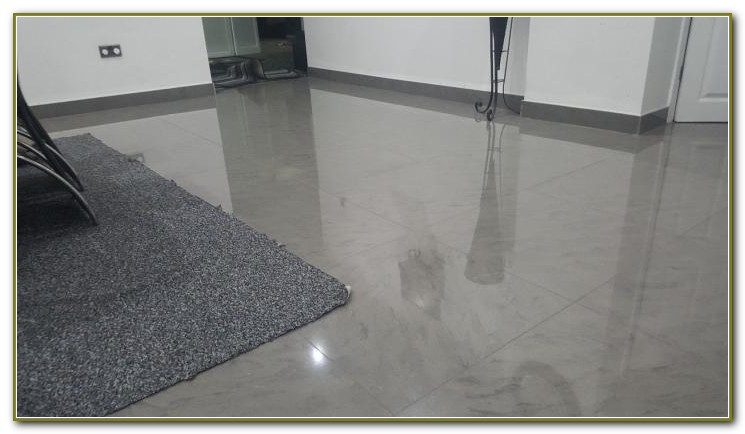 Grey Polished Porcelain Floor Tiles 600x600