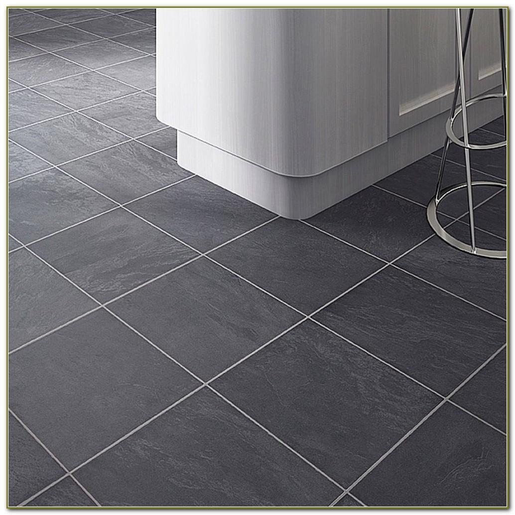 Grey Tile Effect Laminate Flooring