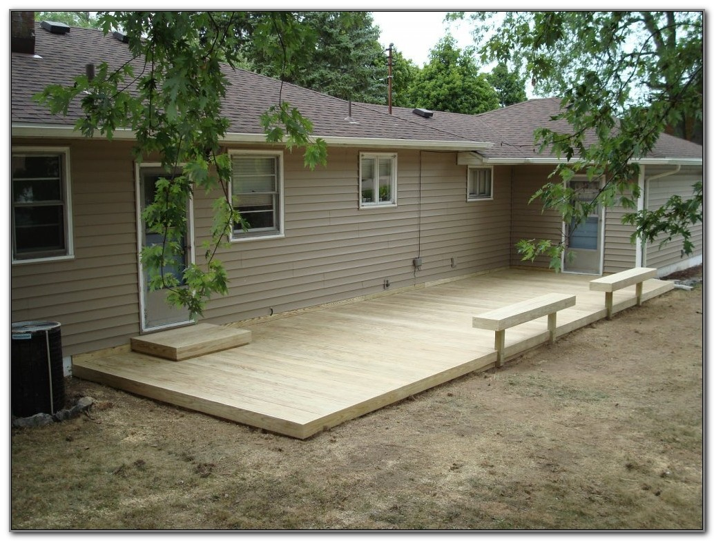 Ground Level Deck Pictures Ideas