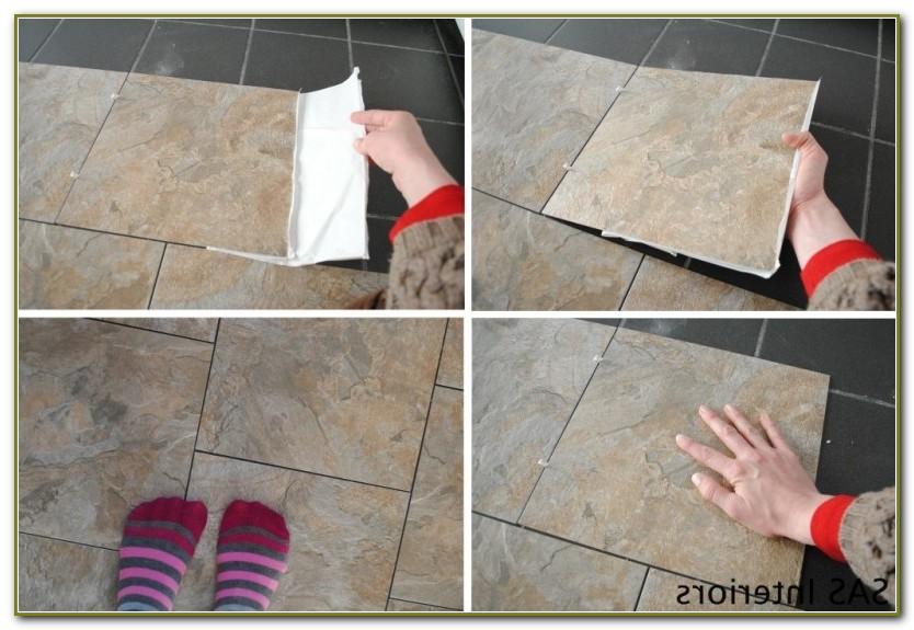 Groutable Vinyl Floor Tiles