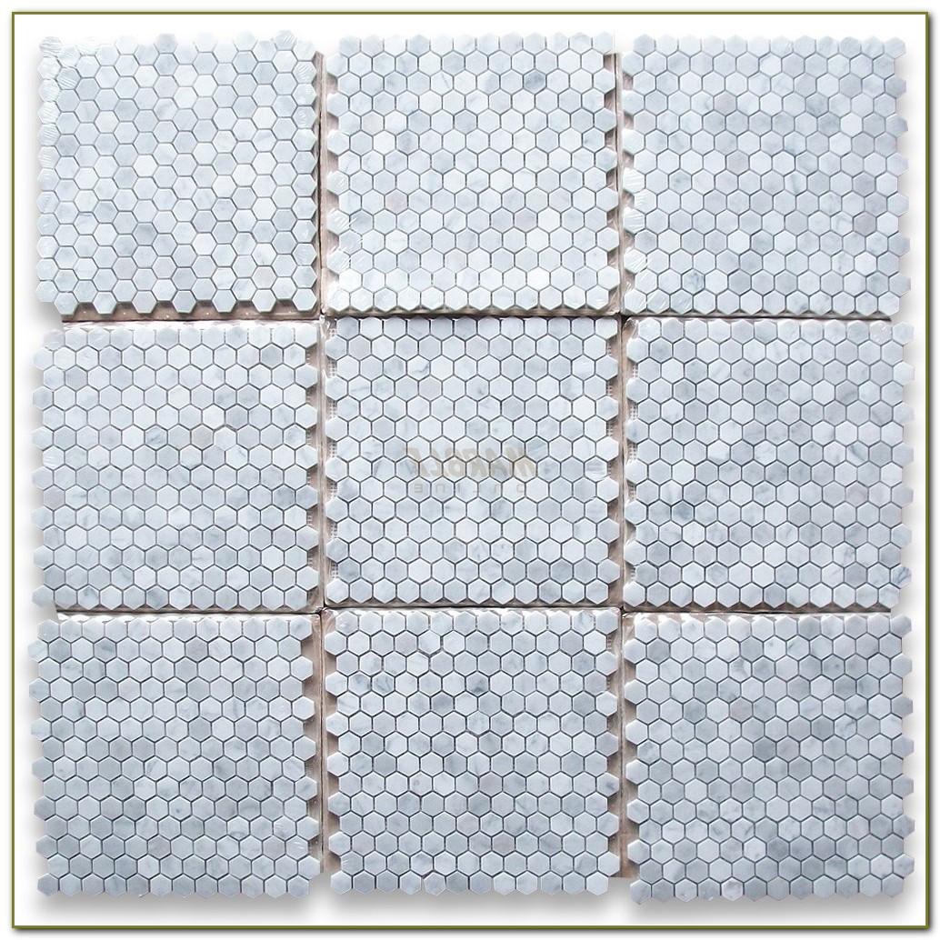 Hexagon Carrara Marble Mosaic Tile