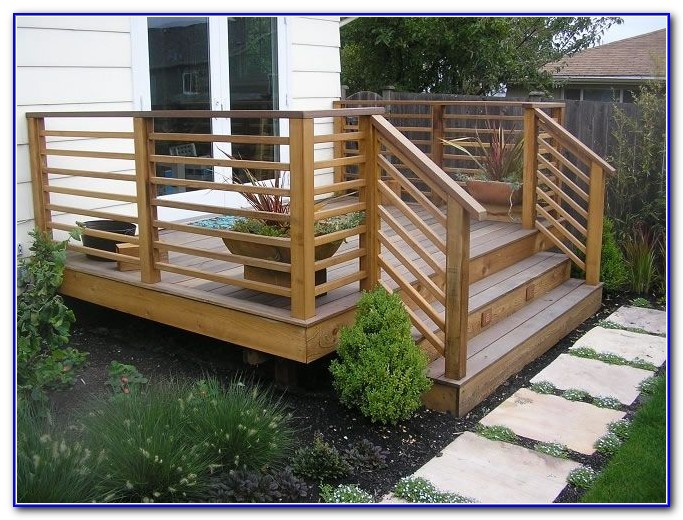 Horizontal Deck Rail Ideas