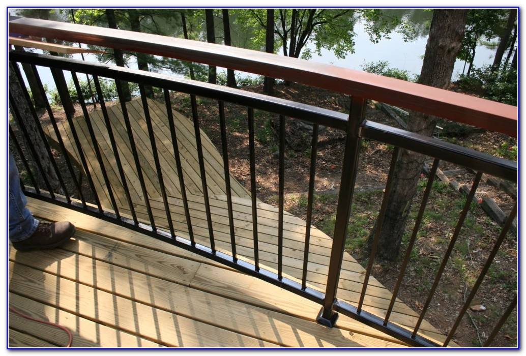 Horizontal Metal Deck Railing