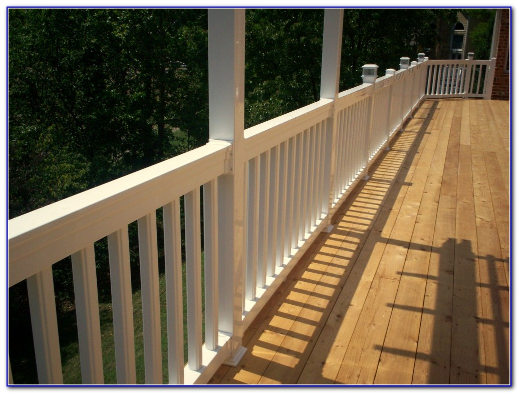 Horizontal Wood Deck Railings