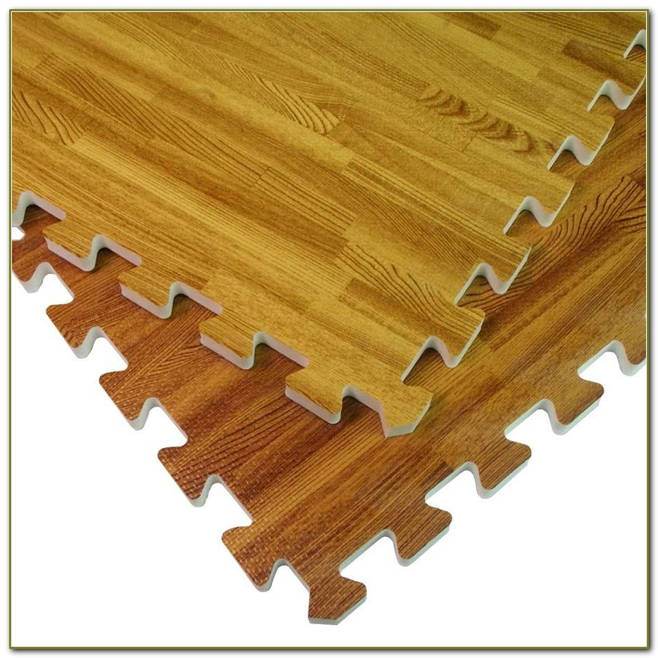 Interlocking Foam Floor Tiles Wood Grain