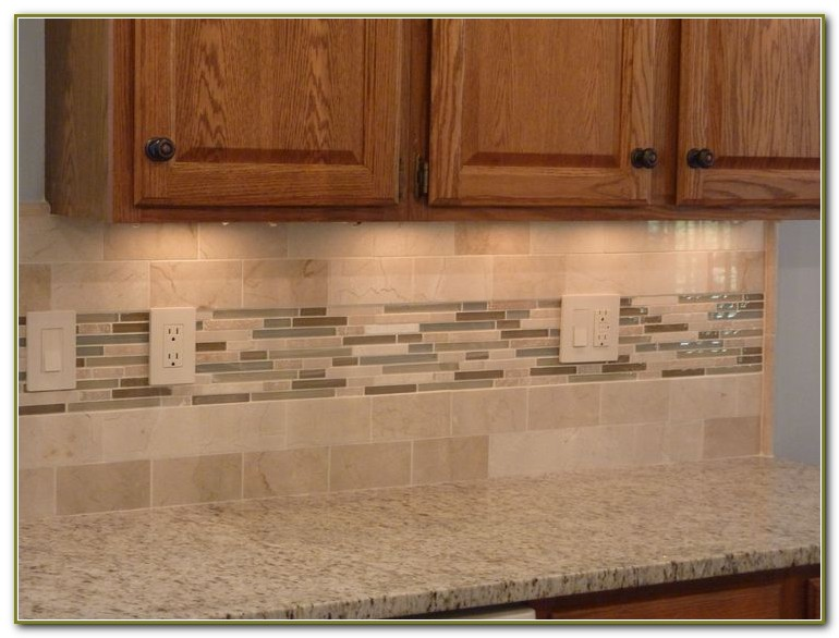 Kitchen Glass Tile Backsplash Designs
