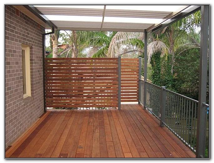 Lattice Privacy Fence On Deck