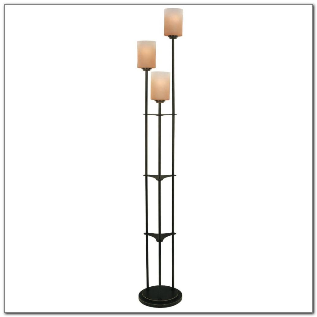 Light Bronze Torchiere Floor Lamp