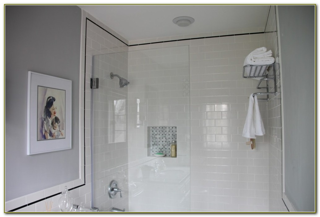 Light Grey Subway Tile Bathroom