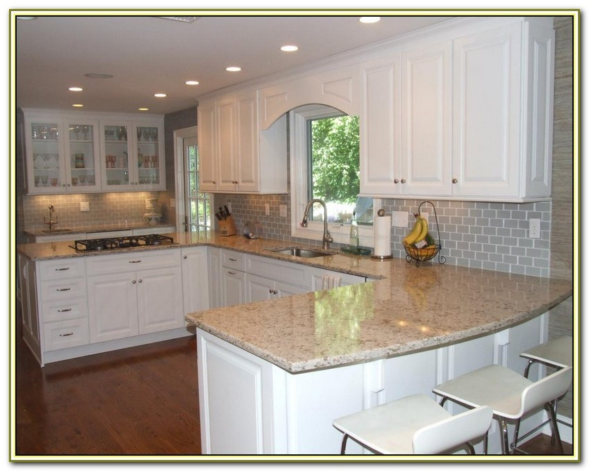 Light Grey Subway Tile Kitchen