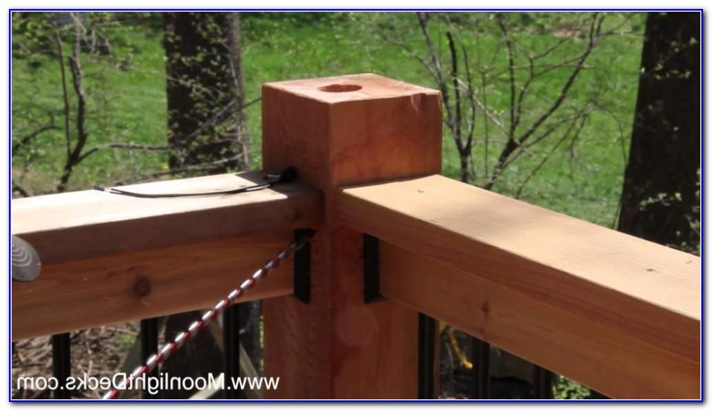 Low Voltage Deck Lighting Installation