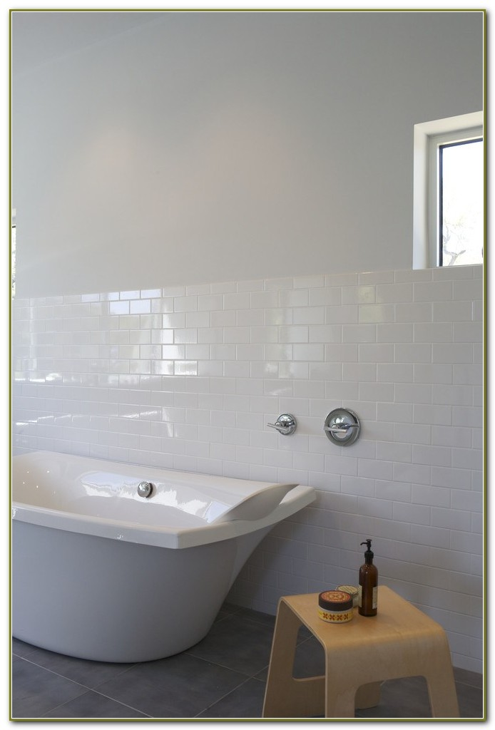 Matte White Subway Tile Bathroom