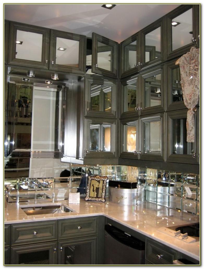 Mirrored Subway Tile Backsplash