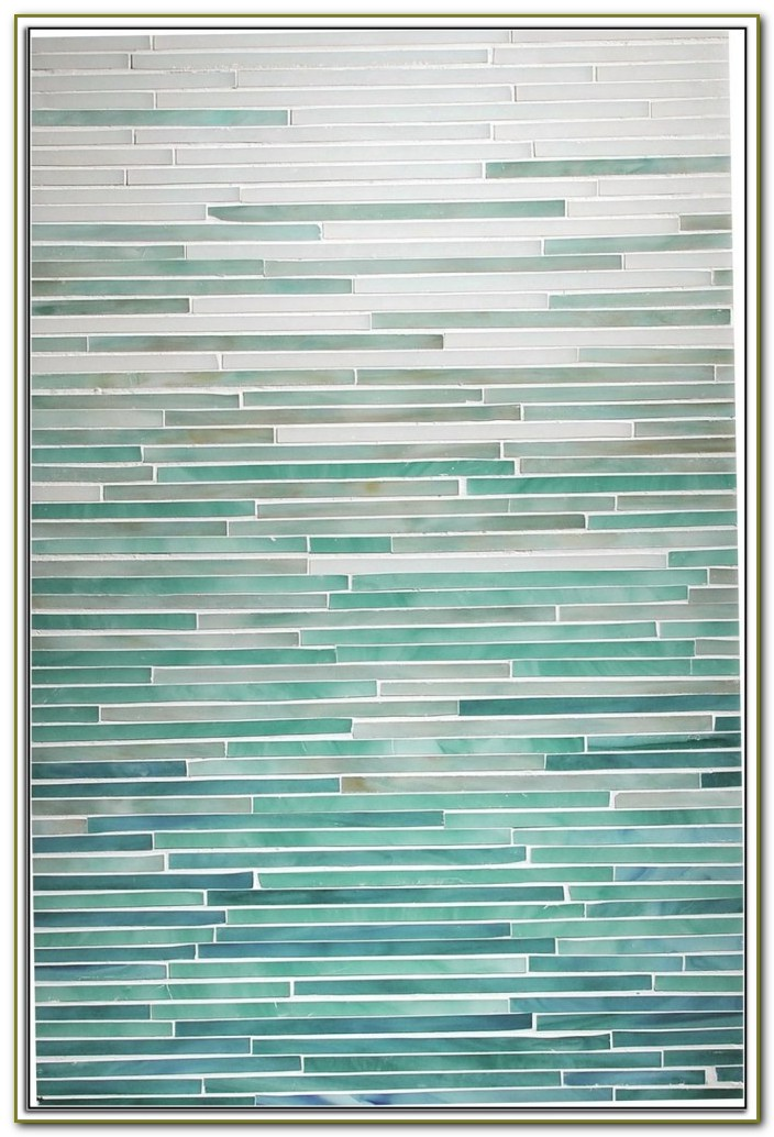 Misty Sea Glass Backsplash Tile