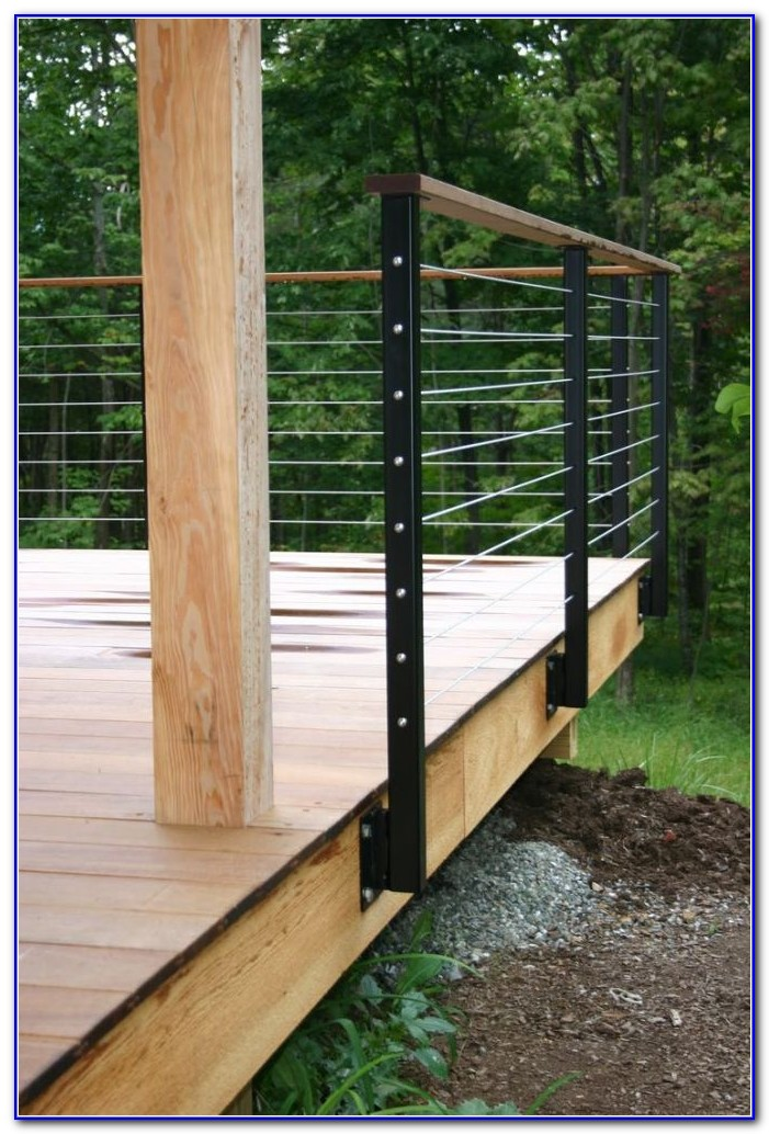 Modern Wood Deck Railing