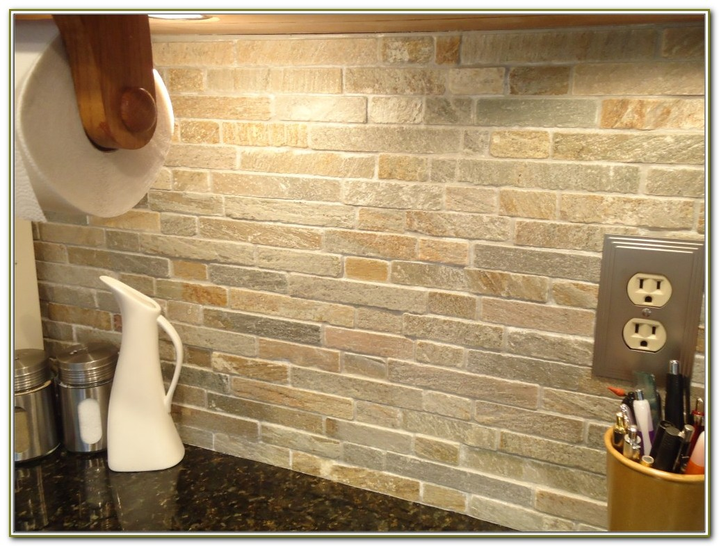 Natural Stone Tile Backsplash Install