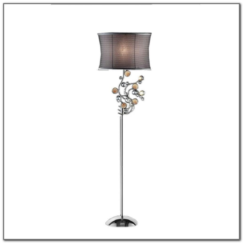 Ore International Floor Lamp Polished Brass