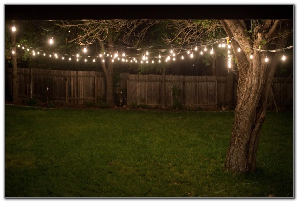 Outdoor Backyard String Lights