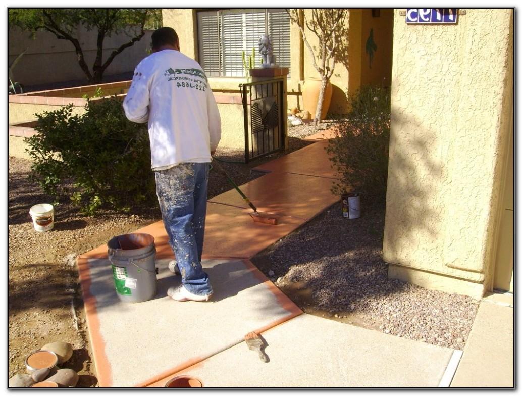 Painting Concrete Pool Deck