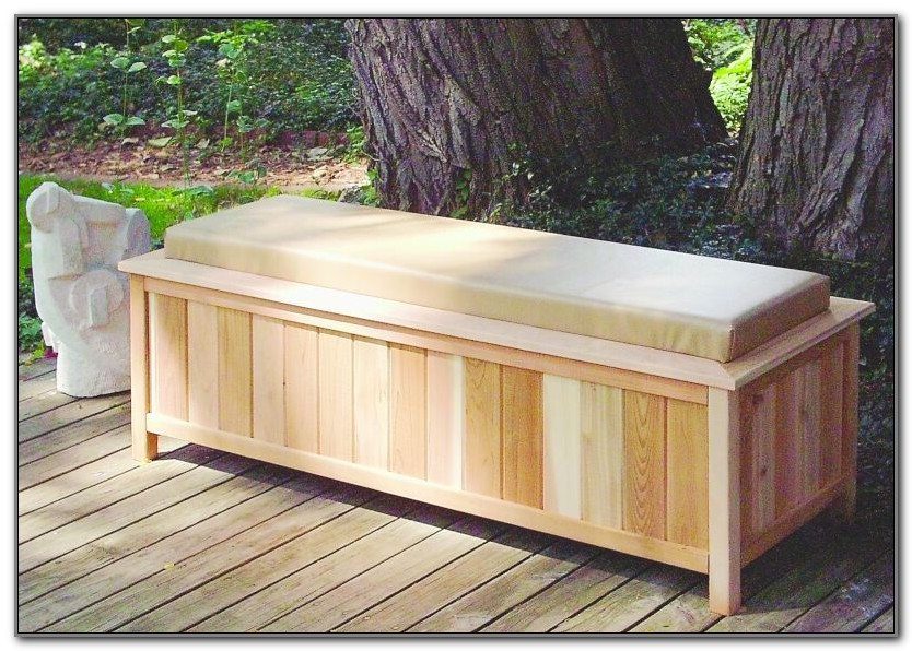 Patio Deck Storage Box Bench