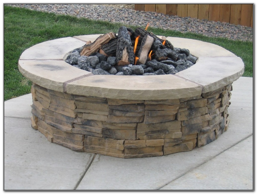 Patio Fire Pit Wood Deck