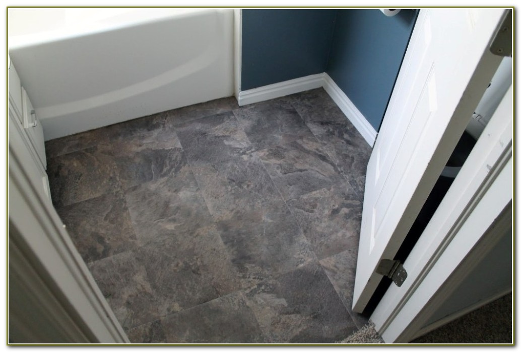 Peel And Stick Floor Tile Bathroom