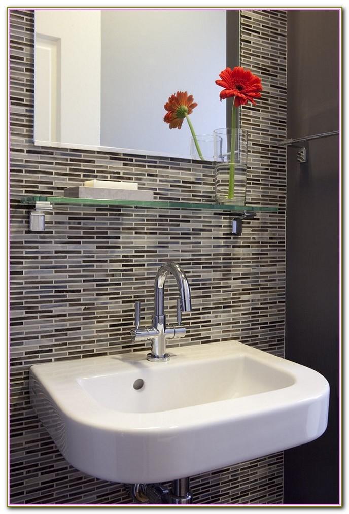 Peel And Stick Tile Backsplash Bathroom