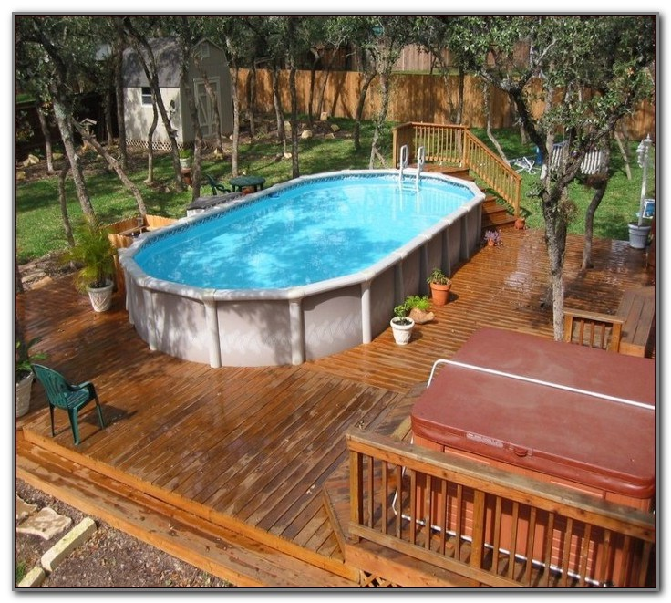 Pictures Of Ground Pool Decks
