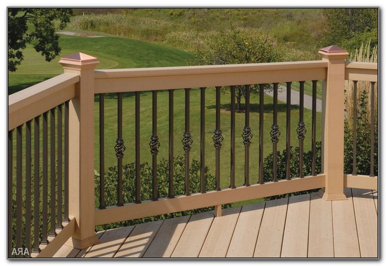 Pictures Of Wood Deck Railings
