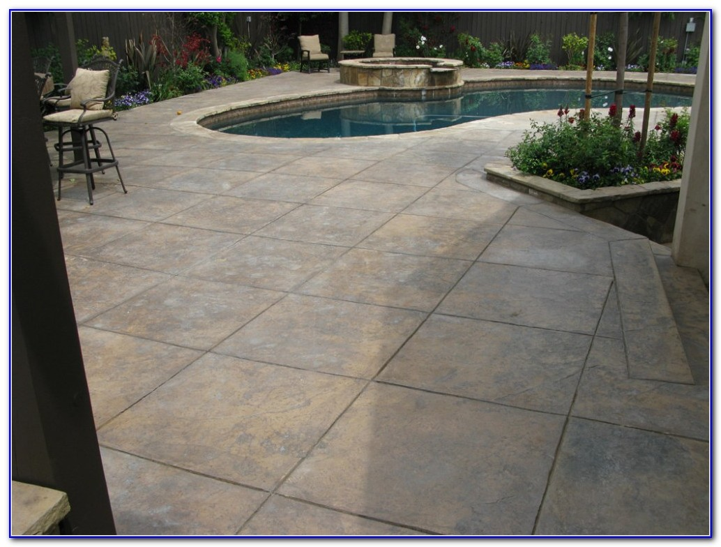 Pool Deck Ideas Stamped Concrete
