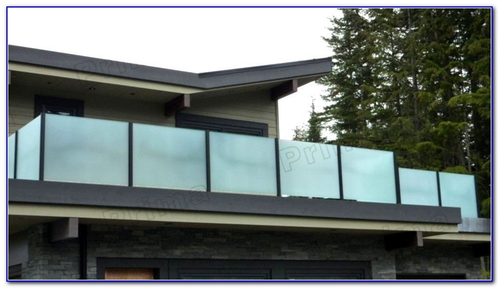 Privacy Glass Deck Railing
