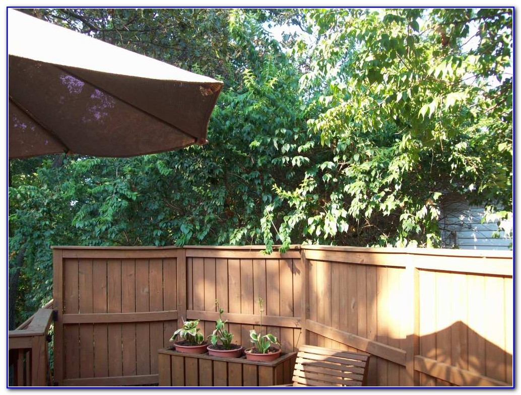 Privacy Wood Deck Railings