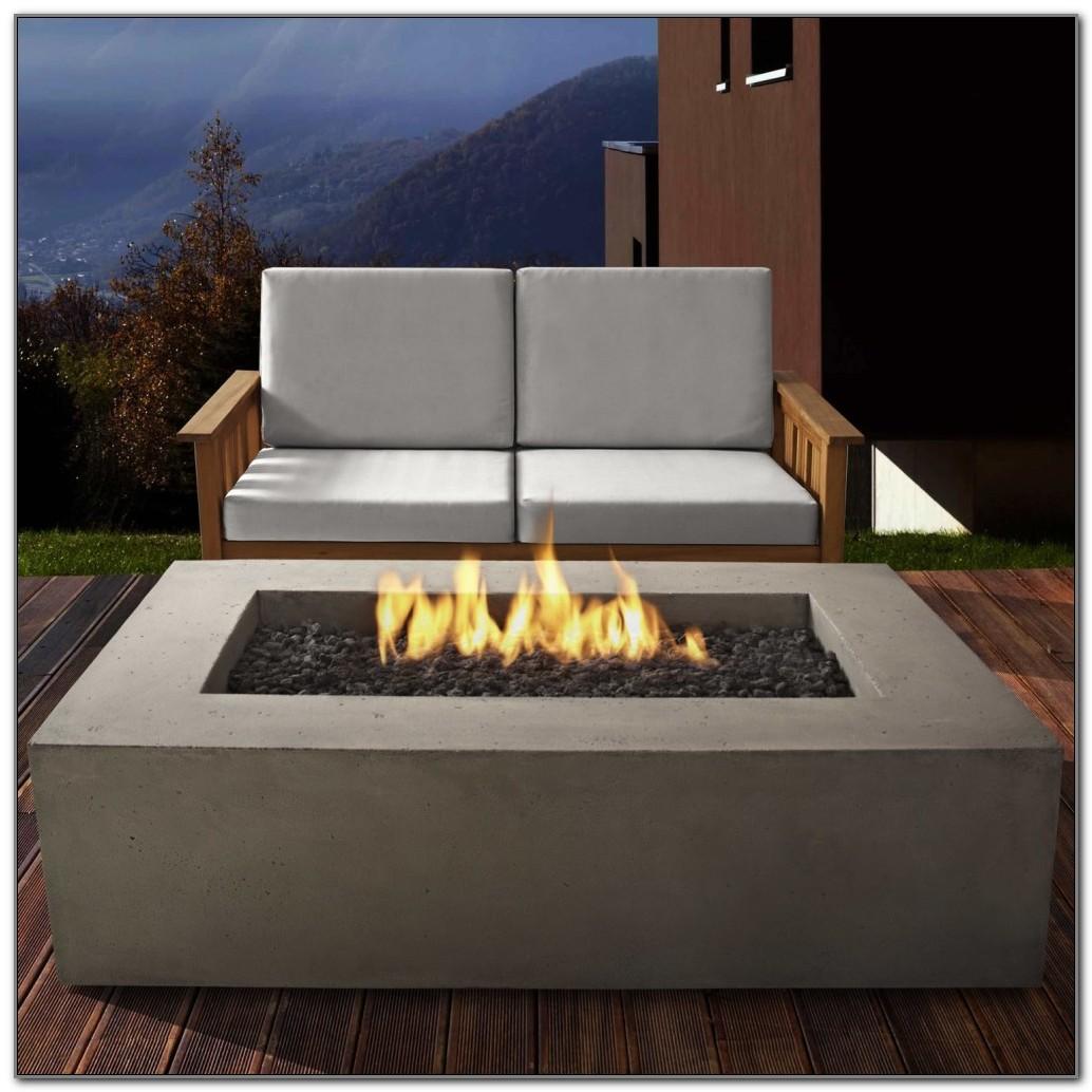 Propane Fire Pit Wood Deck