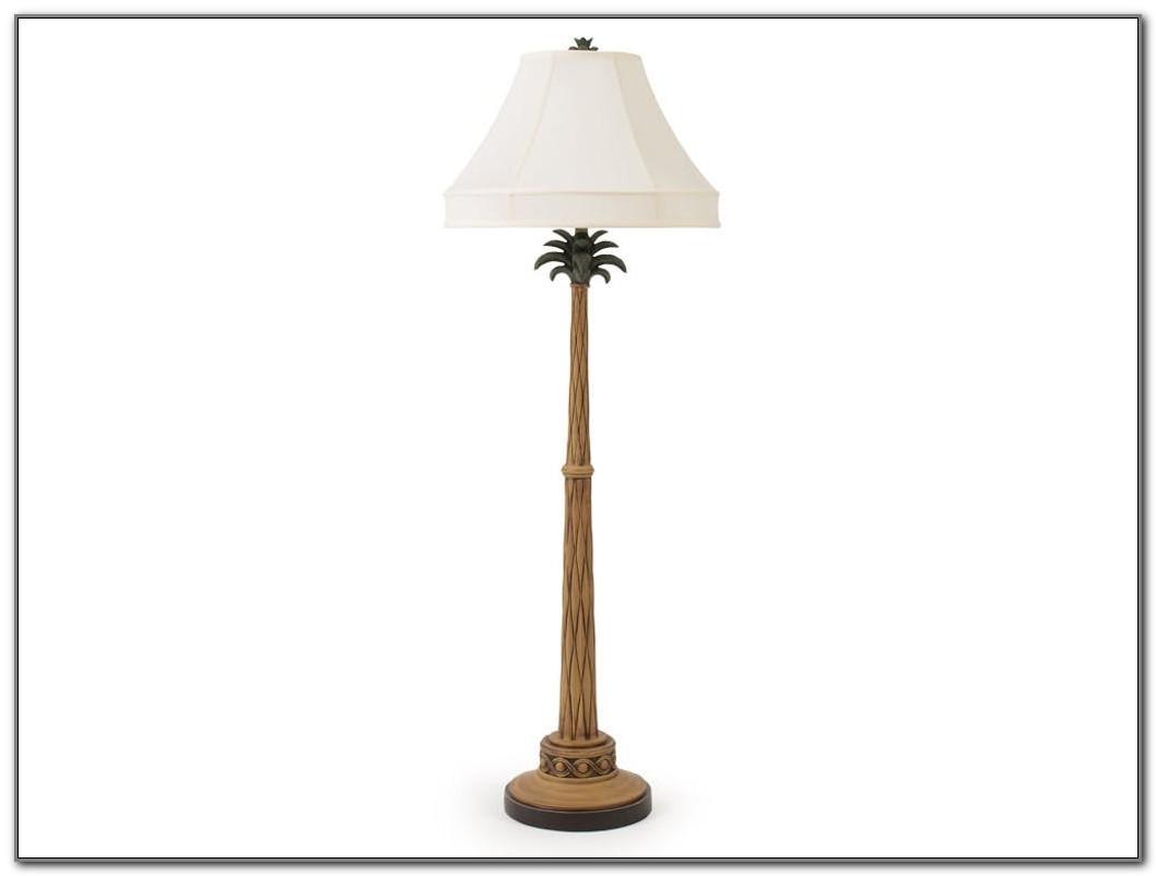 Rattan Palm Tree Floor Lamp