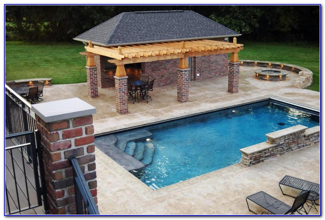 Rectangle Above Ground Pool With Deck