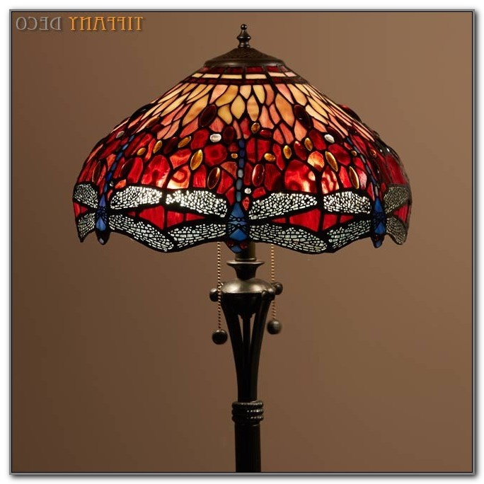 Red Dragonfly Tiffany Floor Lamp
