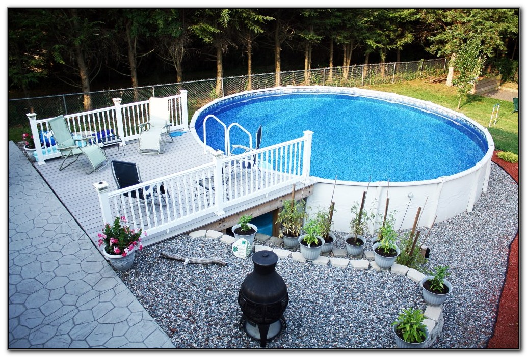 Round Above Ground Pool Decks