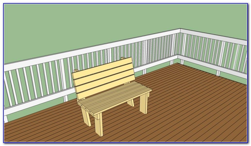 Simple Deck Bench Plans