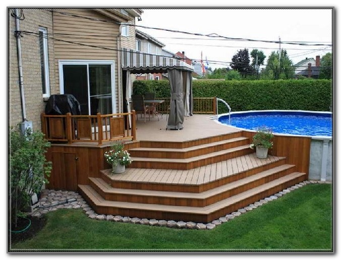 Simple Deck Designs For Above Ground Pools