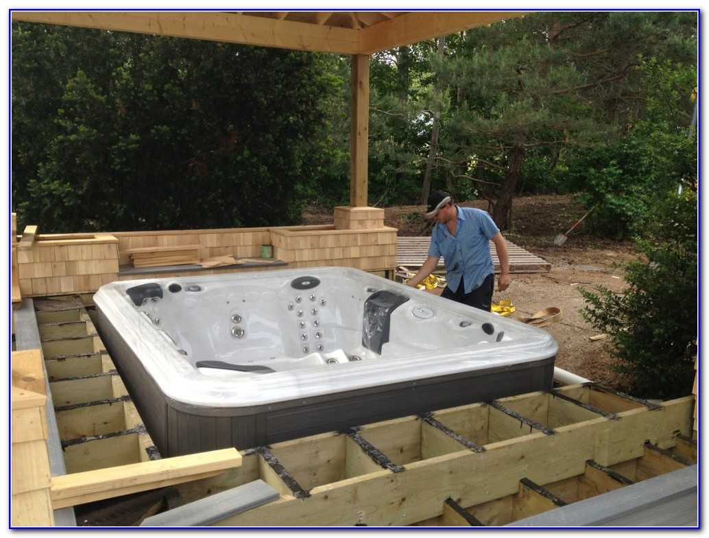 Simple Hot Tub Decks
