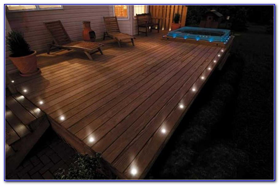 Solar Deck Lights Flush Mount